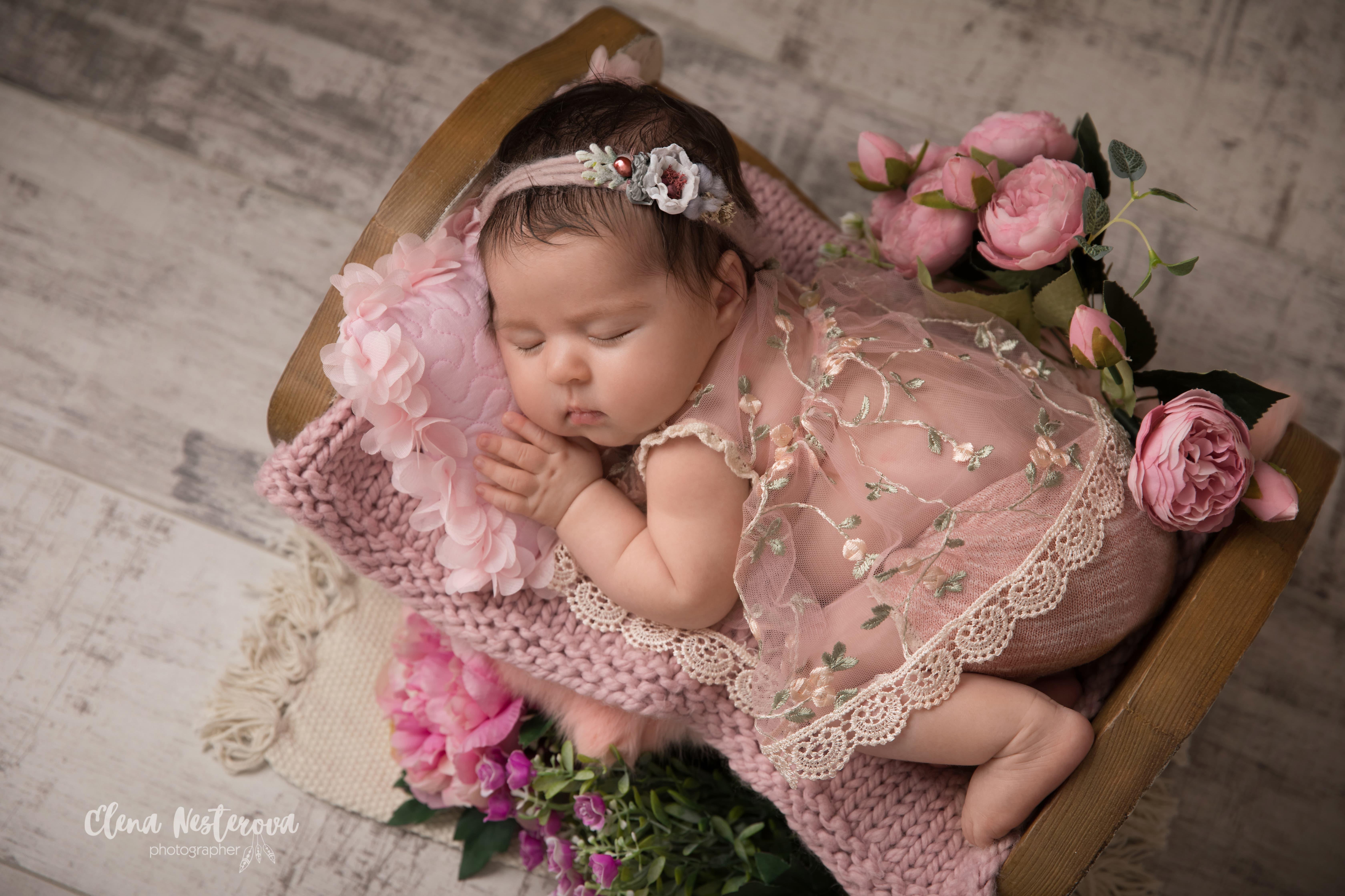 фотограф новорожденного весной