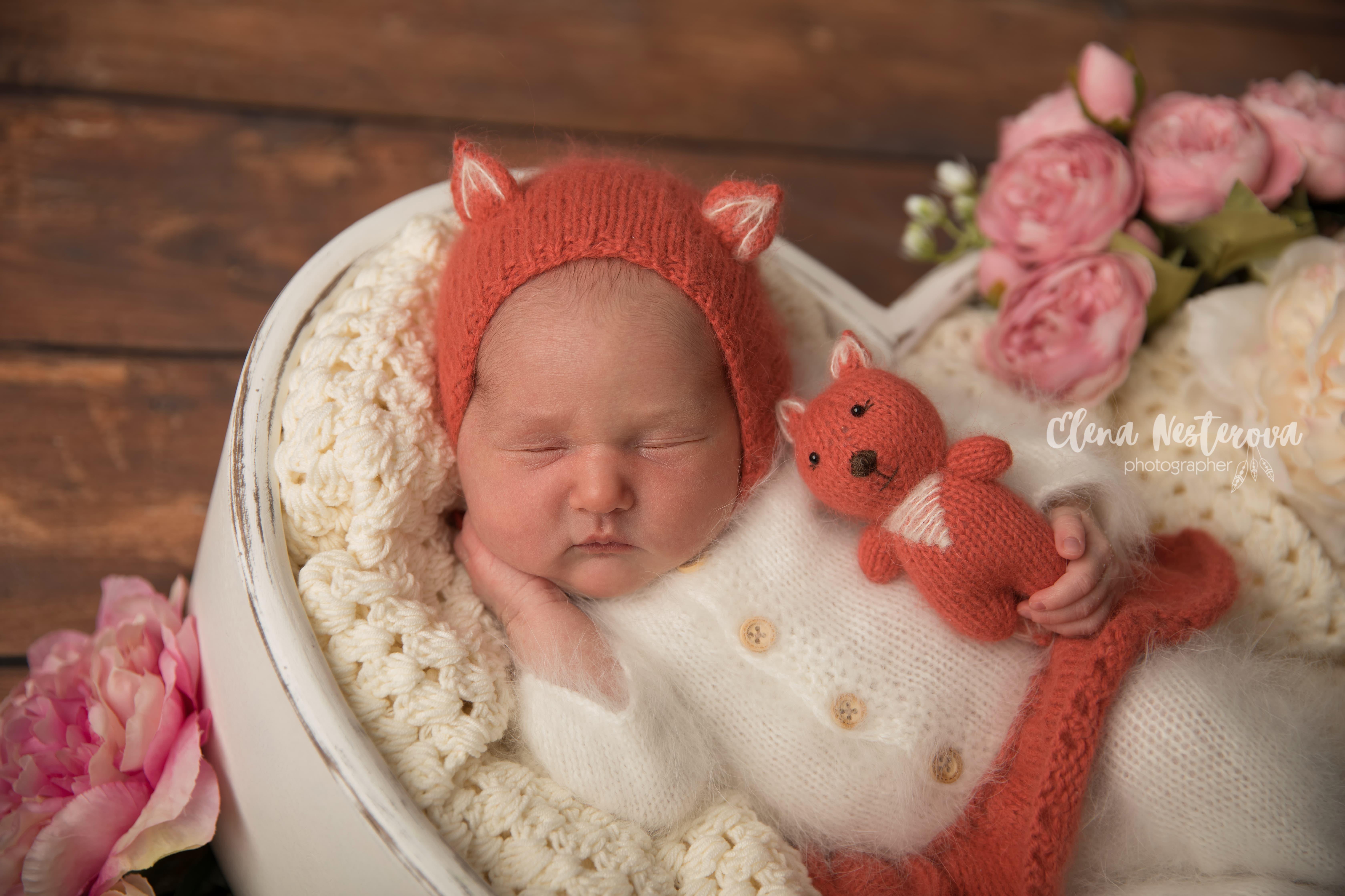 фотография новорожденного весной
