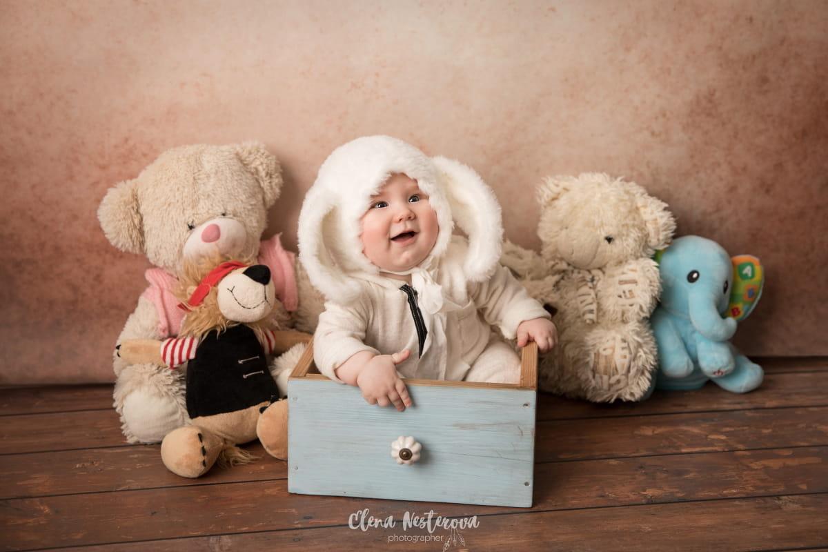 Фотосессия 5-месячного малыша