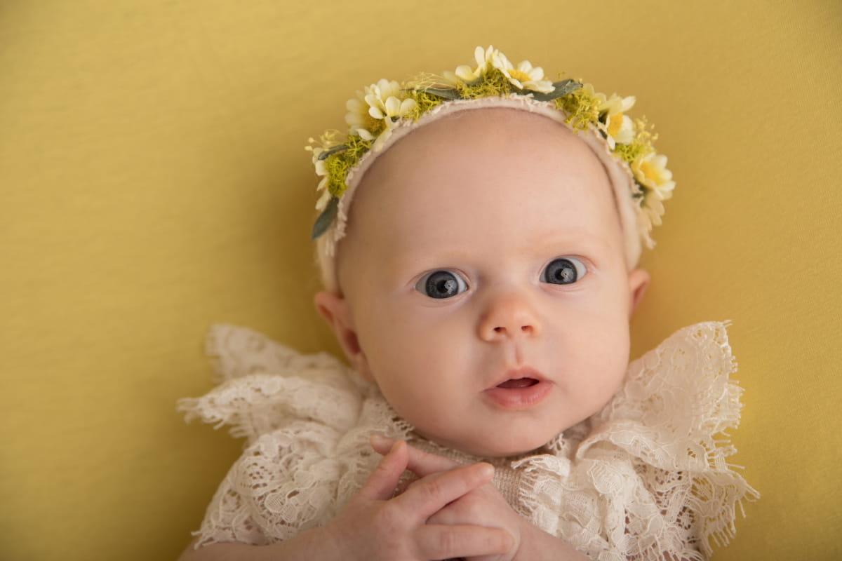 Фотосессия малыша на 2 месяца