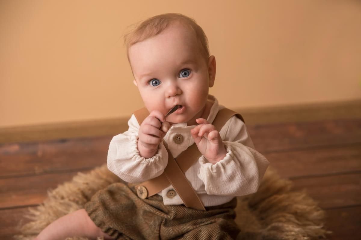 Фотосессия малыша на 6 месяцев