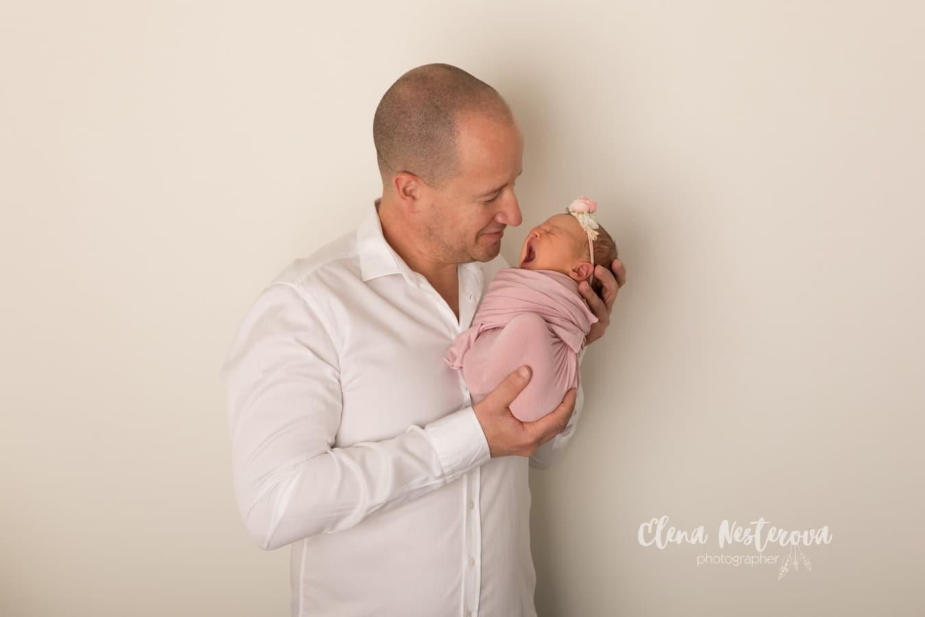 фотограф папы с малышом