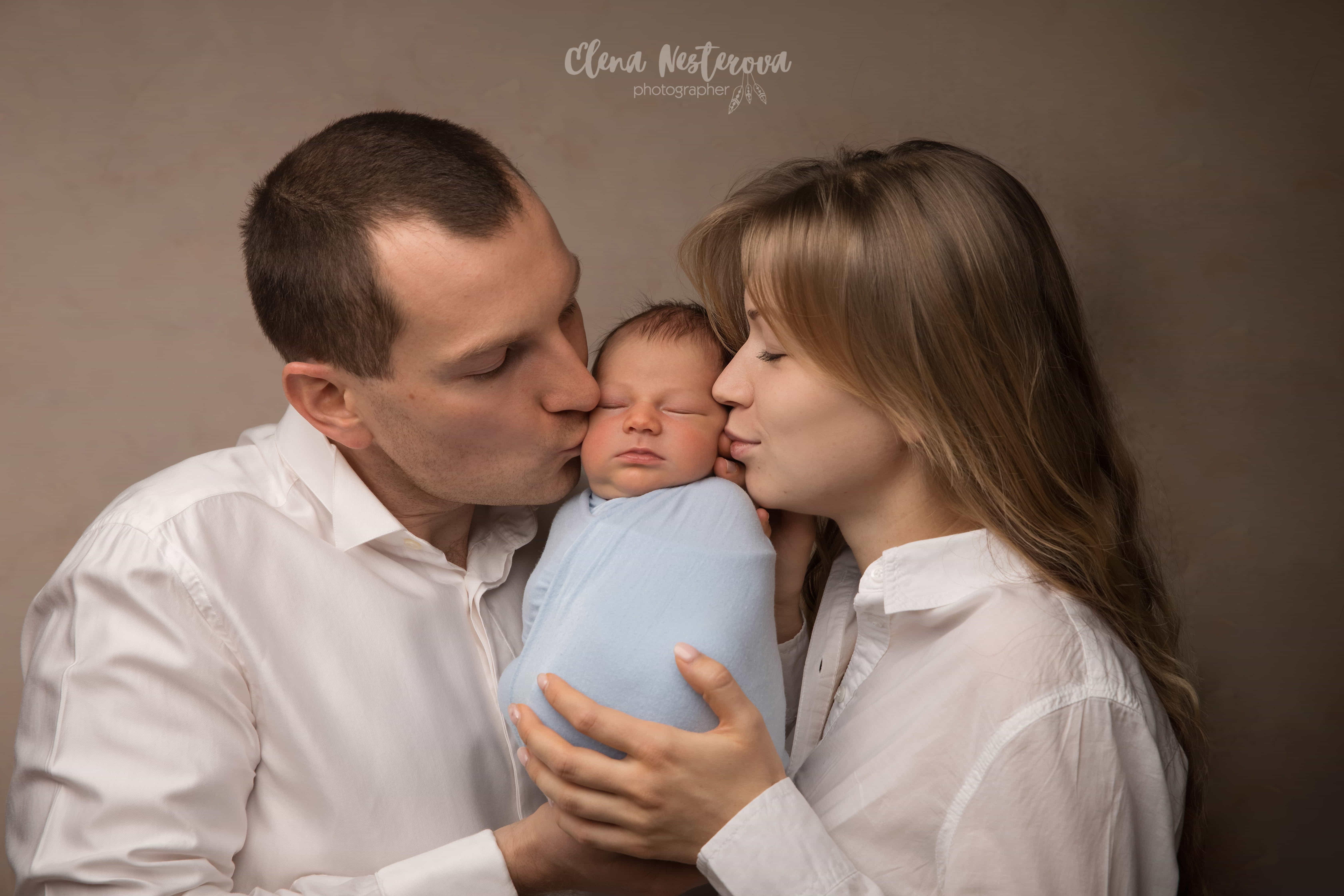 фотосессия малышей с родителями