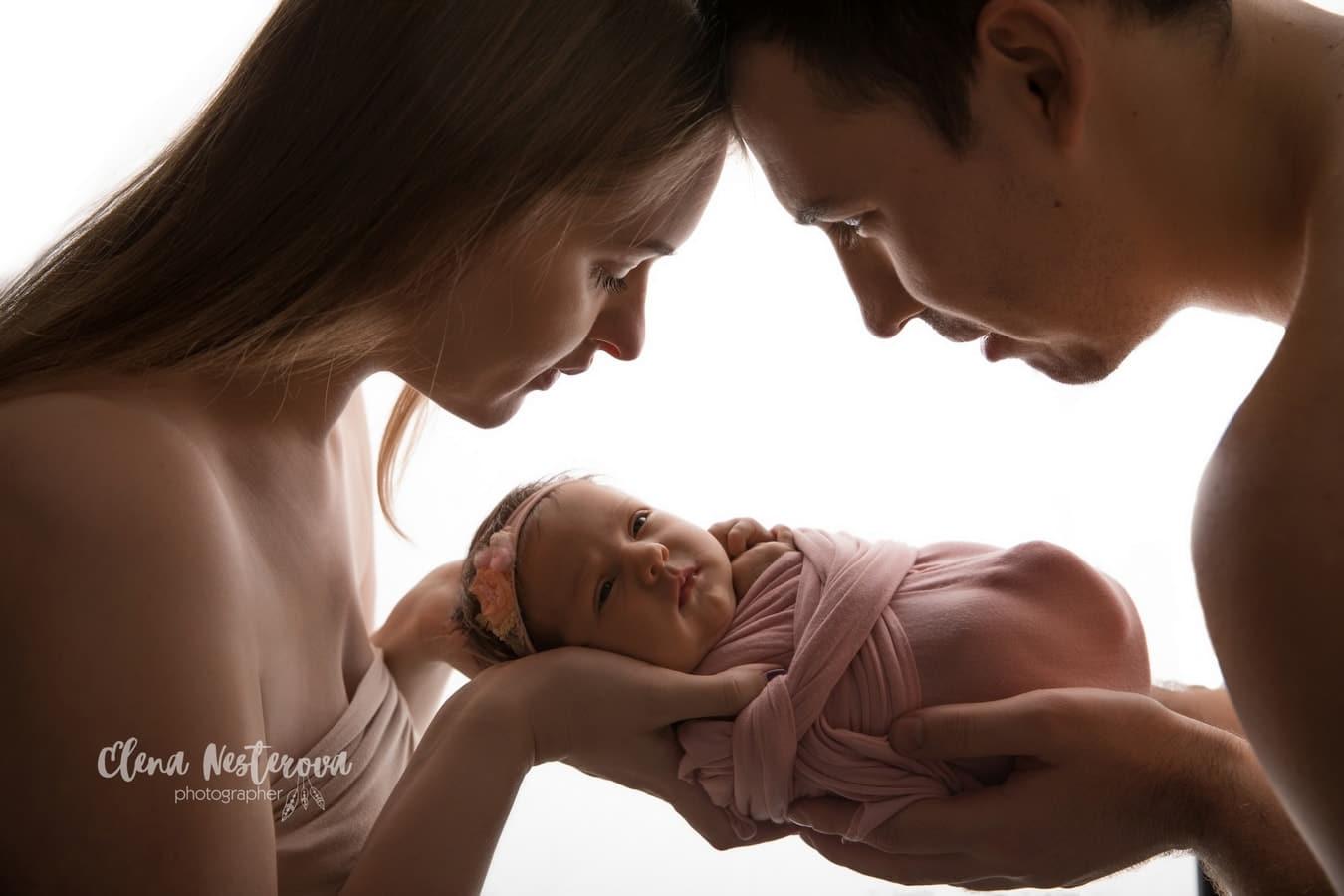 фотосессия мама папа и малыш