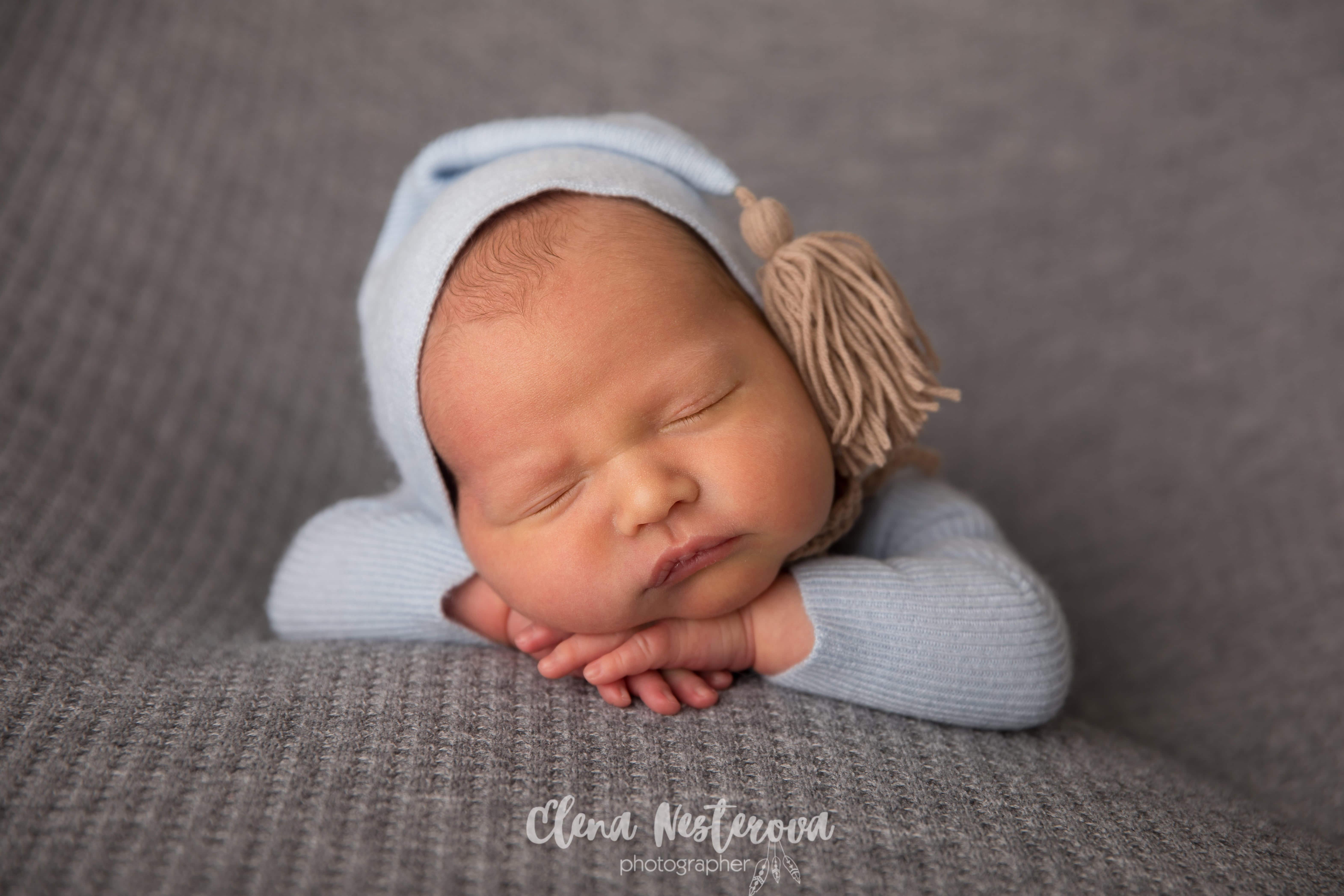 Фотосессия младенца мальчика