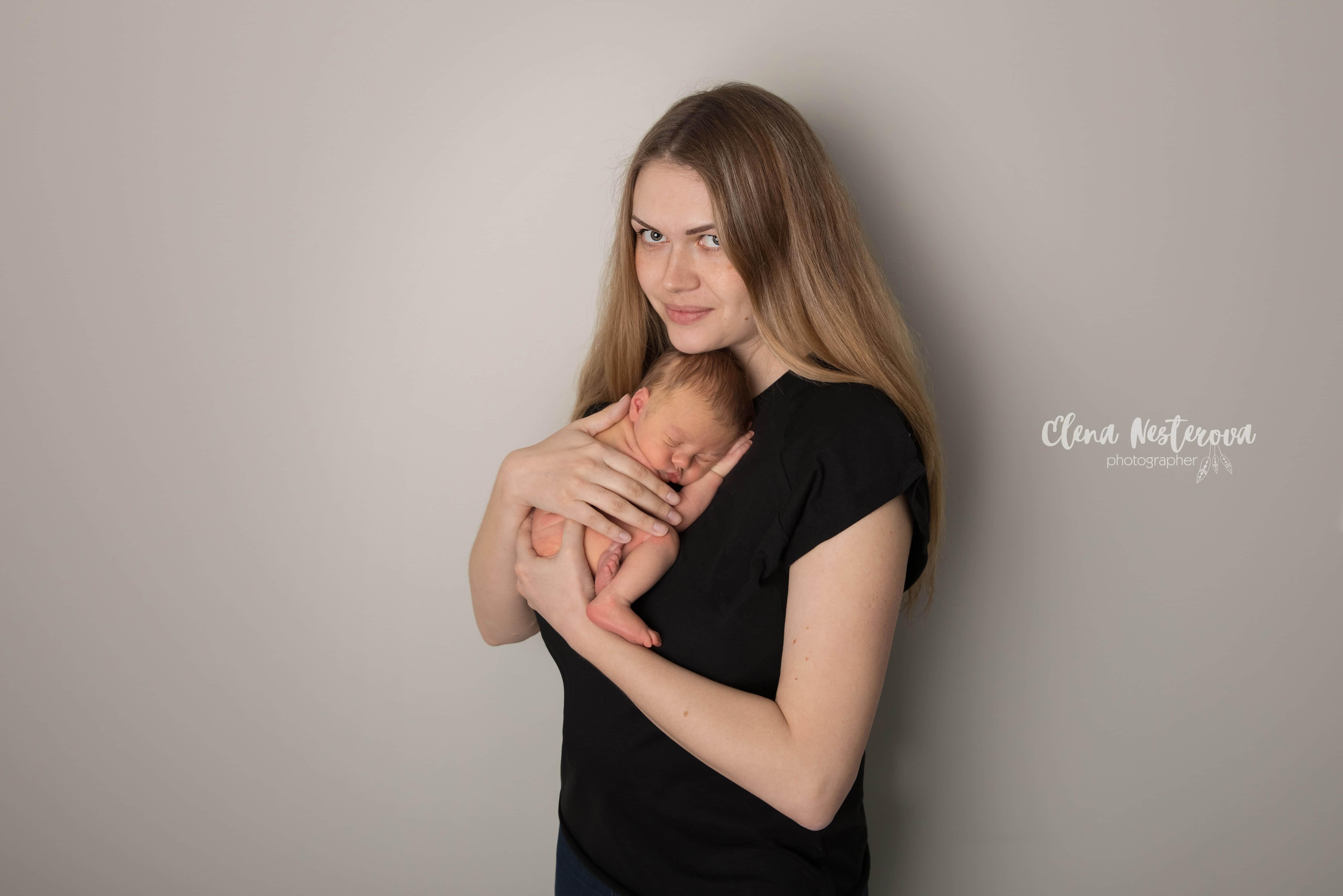 фотосессии новорожденного с мамой