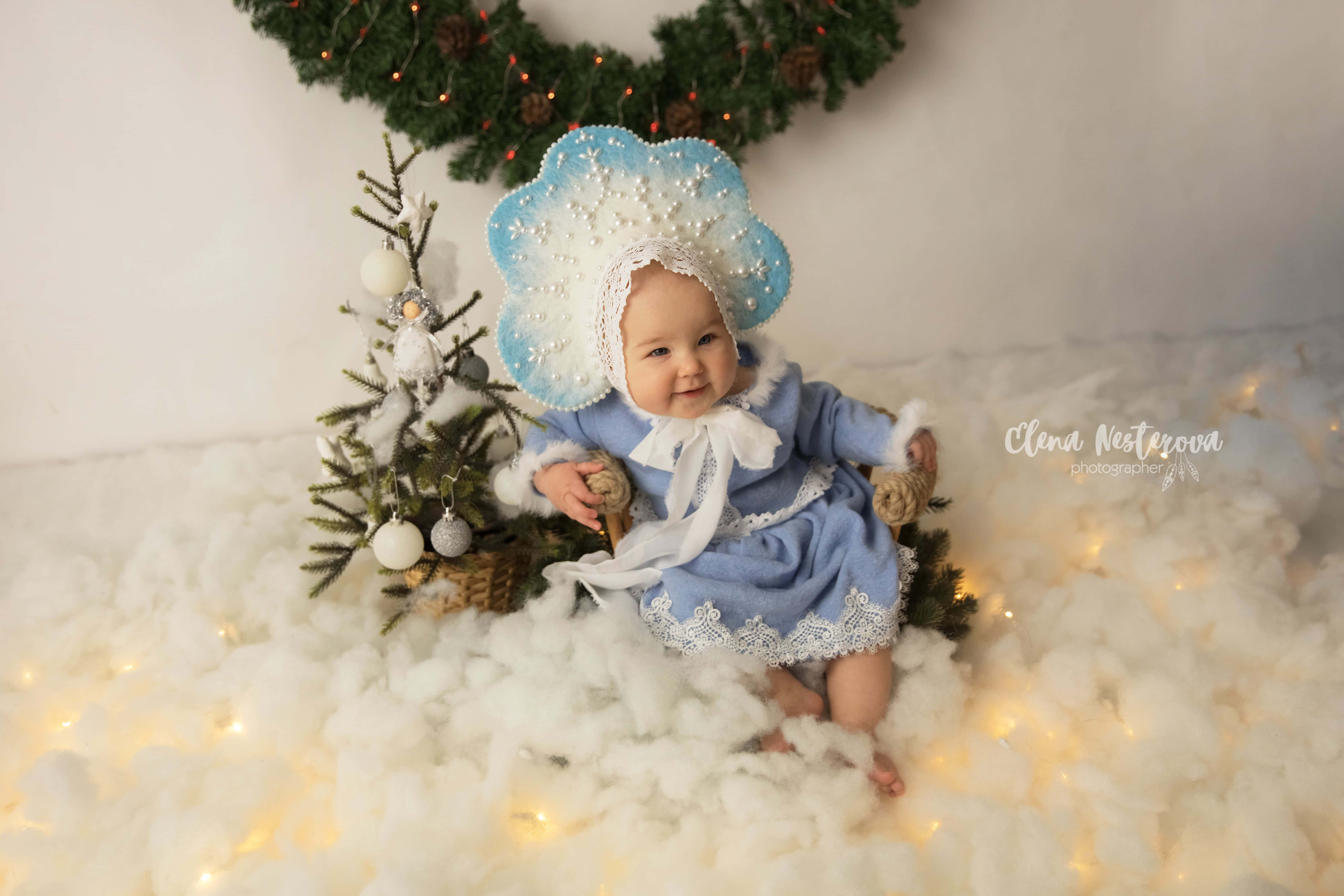 новогодняя фотосессия с малышкой