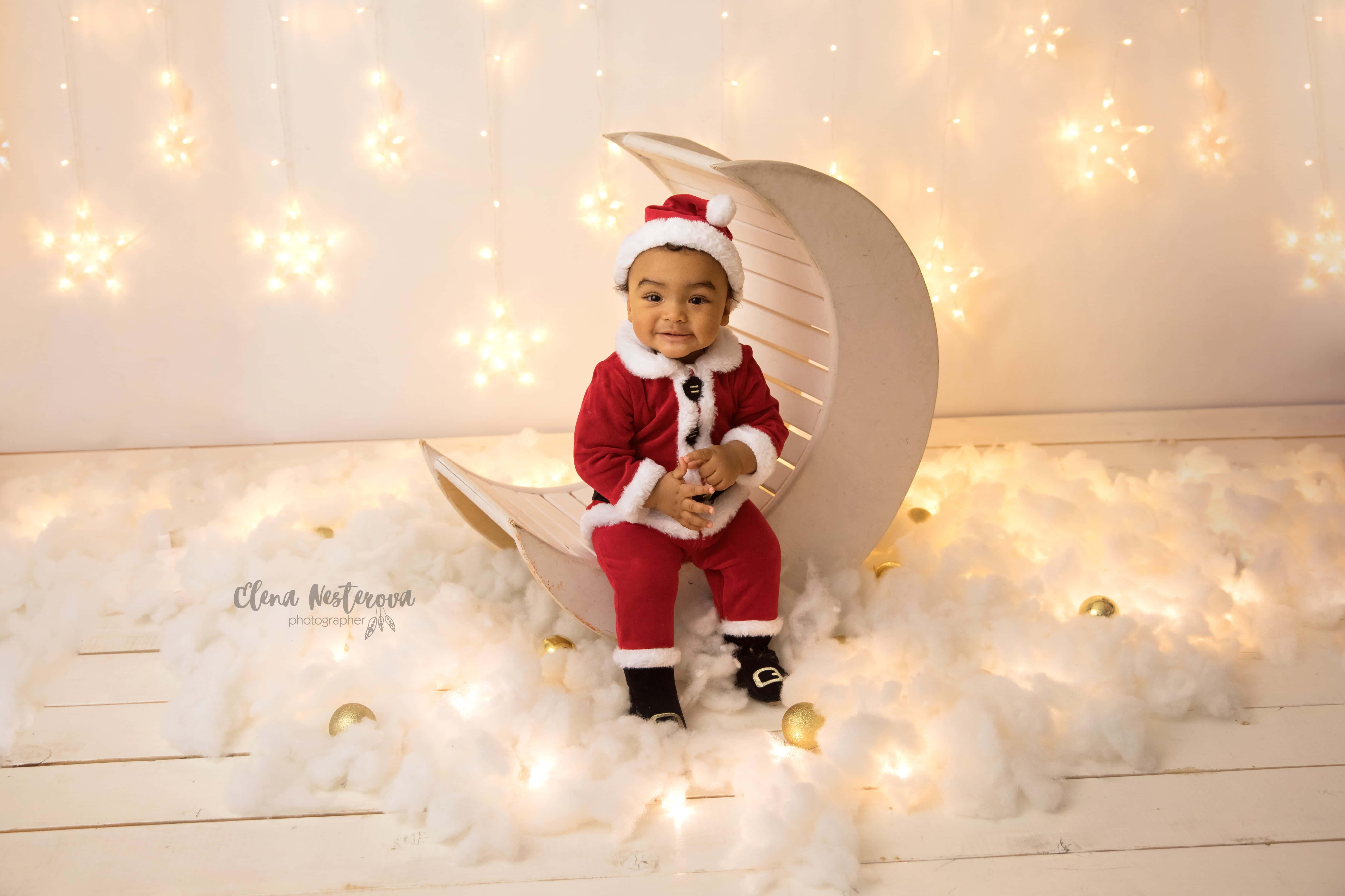 фотосессия малыша на новый год