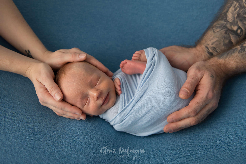 первая фотосессия малыша