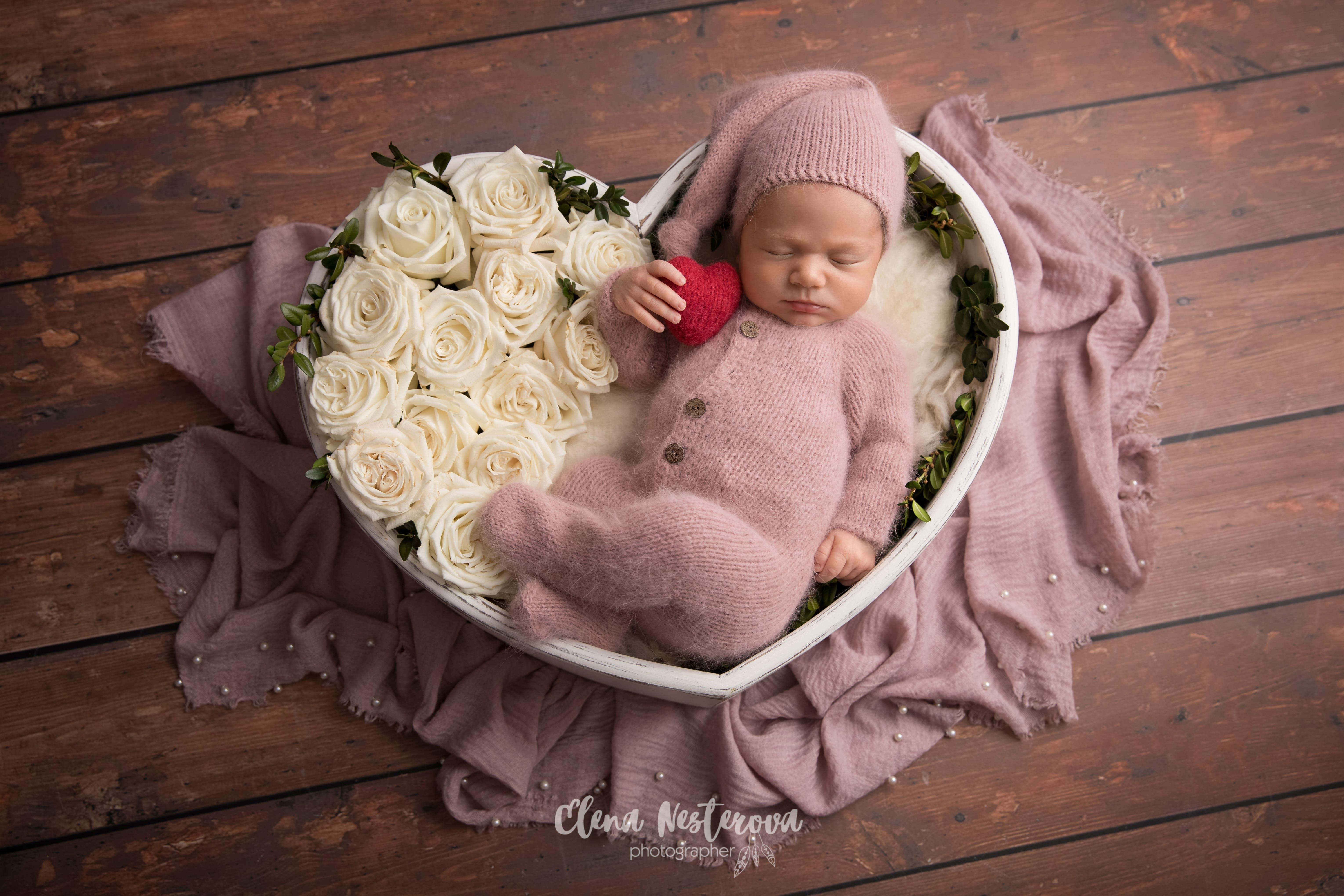 первая фотосессия новорожденного