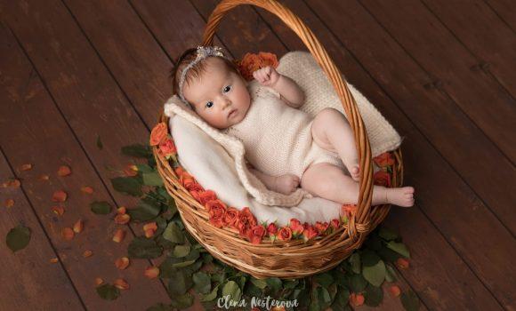 фотосессия новорожденной девочки в образе