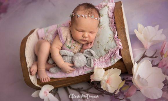 фотосъемка новорожденной девочки в образе