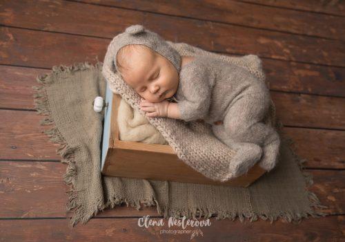 фотосъемка новорожденного мальчика дома СПб