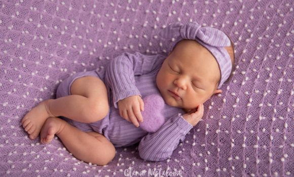 детская фотосессия новорожденных девочек СПб