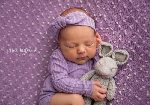 фотосъемка новорожденной девочки дома СПб