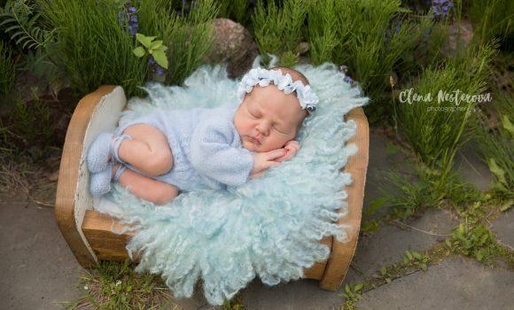 профессиональные фото с новорожденной девочкой