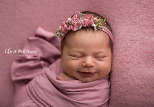 фотосессия новорожденных девочек СПб