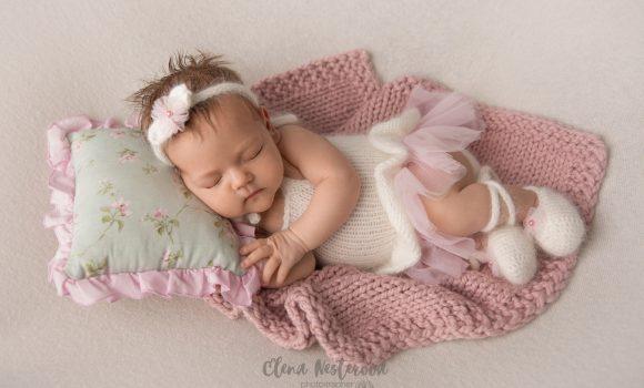 фотосъемка новорожденной малышки