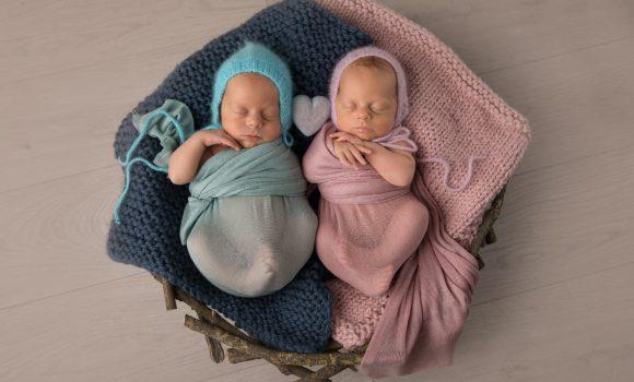 фотограф новорожденных двойняшек СПб