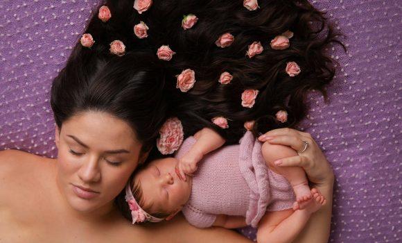 семейная фотосессия с новорожденным СПб